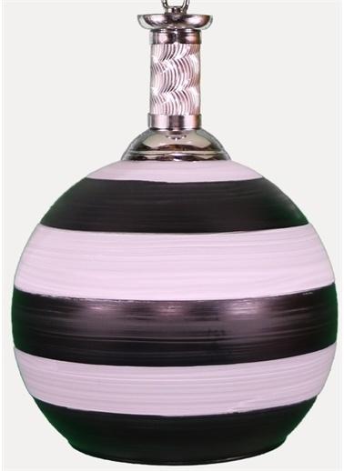 Şenay Aydınlatma Tekli Opal Cam Avize Sarkıt-Siyah Beyaz Renkli